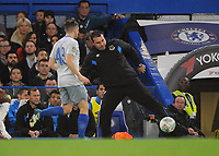 Football - 2017 / 2018 EFL (League) Cup - Fourth Round: Chelsea vs. Everton<br /> <br /> Everton caretaker Manager, David Unsworth juggles with the ball as it goes out of play at Stamford Bridge.<br /> <br /> COLORSPORT/ANDREW COWIE