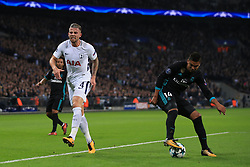 1 November 2017 -  UEFA Champions League (Group H) - Tottenham Hotspur v Real Madrid - Toby Alderweireld of Tottenham Hotspur pulls up with a thigh injury - Photo: Marc Atkins/Offside