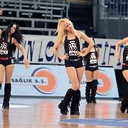 Anadolu Efes's show girls during their Turkish Basketball League Play Off match Anadolu Efes between Pinar Karsiyakaat Sinan Erdem Arena in Istanbul, Turkey, Sunday, May 06, 2012. Photo by TURKPIX
