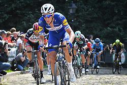 August 19, 2018 - Geraardsbergen, BELGIUM - Dutch Niki Terpstra of Quick-Step Floors pictured in action at the Muur Kapelmuur during the final stage of the Binkcbank Tour cycling race, 209,5 km from Lacs de l'Eau d'Heure to Geraardsbergen, Belgium, Sunday 19 August 2018. BELGA PHOTO DAVID STOCKMAN (Credit Image: © David Stockman/Belga via ZUMA Press)
