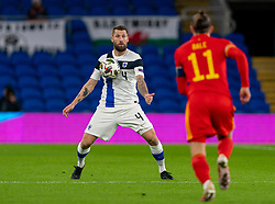 CARDIFF, WALES - Wednesday, November 18, 2020: Finland's Joona Toivio during the UEFA Nations League Group Stage League B Group 4 match between Wales and Finland at the Cardiff City Stadium. Wales won 3-1 and finished top of Group 4, winning promotion to League A. (Pic by David Rawcliffe/Propaganda)