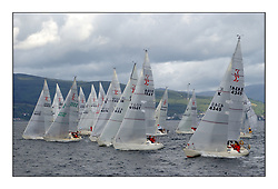 Yachting- The second start of the Bell Lawrie Scottish series 2002 at Inverkip racing to Tarbert Loch Fyne where racing continues over the weekend.<br /><br />The Sigma 33 fleet are recalled after a premature  start.<br /><br />Pics Marc Turner / PFM