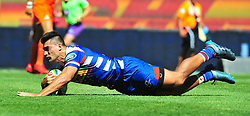 Cape Town-180217 Stomers  Damien de Allende scores a try against Jaguares in the opening game of the Super 15 at Newlands .photograph:Phando Jikelo/African News Agency/ANA