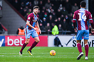 Cameron Burgess of Scunthorpe United (21) in action during the EFL Sky Bet League 1 match between Scunthorpe United and Sunderland at Glanford Park, Scunthorpe, England on 19 January 2019.