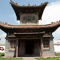 Temple of the Yadam at Choijin Lama Temple, a rare, remaining Tibetan Buddhist sanctuary in Ulaanbaator, Mongolia, a country where monks and lamas were executed after communist takeover.  The religion is making a resurgence after independence