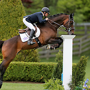 NORTH SALEM, NEW YORK - May 15: Leslie Howard, USA, riding Quadam, in action during The $50,000 Old Salem Farm Grand Prix presented by The Kincade Group at the Old Salem Farm Spring Horse Show on May 15, 2016 in North Salem. (Photo by Tim Clayton/Corbis via Getty Images)