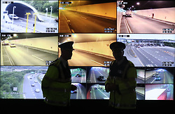 Garda Officers in the control room at the Dublin Tunnel headquarters on the speed camera enforcement system which is set to go live on June 1, 2017.