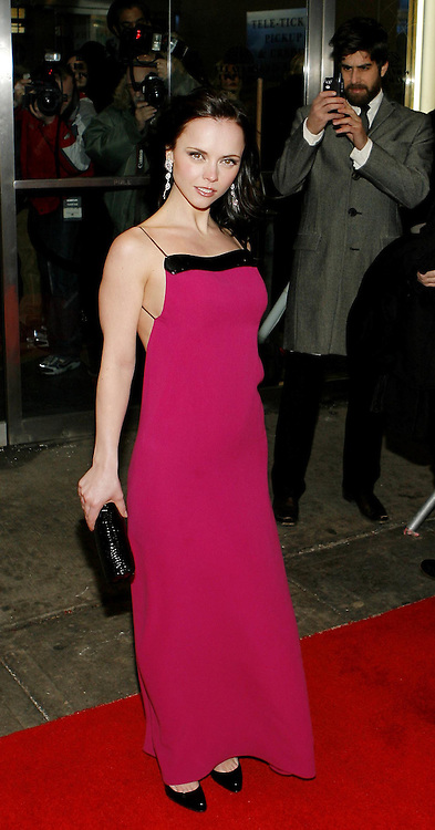 Actress Christina Ricci arrives for the premier of the film 'Black Snake Moan' in New York, New York on Monday 19 February 2007.