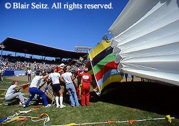 Outdoor recreation, Hot Air Balloon, Little League World Series Opening Ceremonies, Williamsport, PA