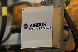 File photo dated 21/11/16 of Airbus branding on display. Two European satellite-making firms have agreed to build components in the UK in a deal worth hundreds of millions of pounds.