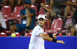 UMAG, July 18, 2018  Martin Klizan of Slovakia hits a return against Nicolas Jarry  of Chile during the first round of 2018 ATP Plava laguna Croatia Open Umag tennis tournamet in Umag, Croatia, on July 17, 2018. Martin Klizan won 2-0. (Credit Image: © Igor Soban/Xinhua/Xinhua via ZUMA Wire)