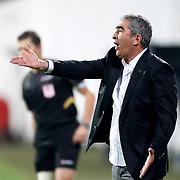 Besiktas's Coach Samet Aybaba during their Turkish superleague soccer match Besiktas between Sivasspor at BJK Inonu Stadium in Istanbul Turkey on Monday, 01 October 2012. Photo by TURKPIX