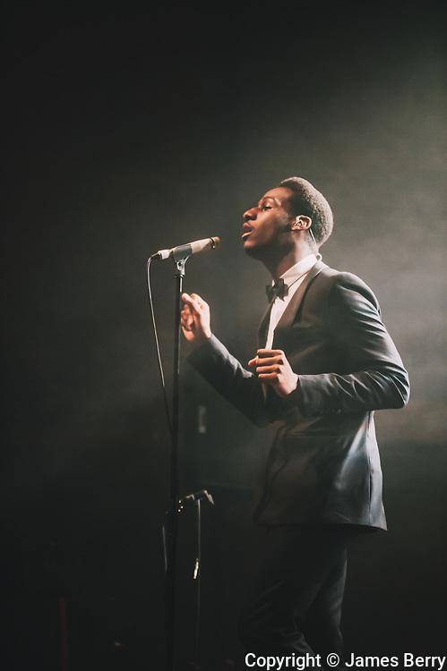 Leon Bridges performs live at Village Underground, London, on Wednesday 20 May 2015.