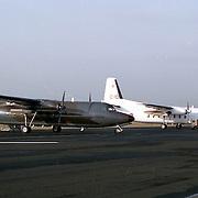 NLD/Soesterberg/19921127 - F-27 gewoon en een witte VN vliegtuig