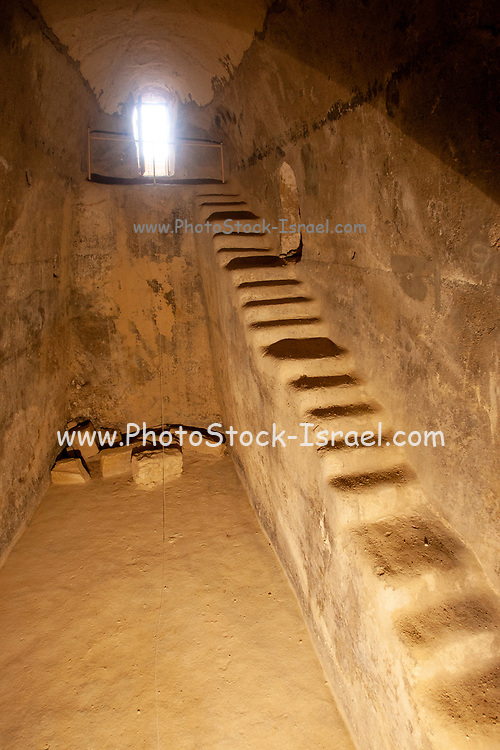 Israel, West Bank, Judaea, Herodion a castle fortress built by King Herod 20 B.C.E. Underground Water Cistern