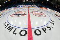 KAMLOOPS, CANADA - NOVEMBER 5: Centre Ice  on November 5, 2018 at Sandman Centre in Kamloops, British Columbia, Canada.  (Photo by Marissa Baecker/Shoot the Breeze)