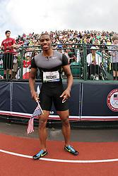 2012 USA Track & Field Olympic Trials: Manteo Mitchell victory lap