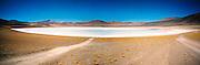 Laguna blanca / desierto de Atacama, Chile.<br /> <br /> White lagoon / Atacama desert, Chile.<br /> <br /> Panorámica de 2 fotografías / Panoramic image of 2 photographs.<br /> <br /> Edición de 10   Víctor Santamaría.