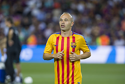 August 13, 2017 - Barcelona, Spain - Andres Iniesta during the match between FC Barcelona - Real Madrid, for the first leg of the Spanish Supercup, held at Camp Nou Stadium on 13th August 2017 in Barcelona, Spain. (Credit: Urbanandsport / NurPhoto) (Credit Image: © Urbanandsport/NurPhoto via ZUMA Press)