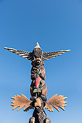 The Spirit of Alaska totem pole in downtown Anchorage, Alaska.