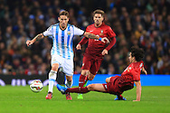 Tiago Mendes of Portugal challenges Lucas Biglia of Argentina - Argentina vs. Portugal - International Friendly - Old Trafford - Manchester - 18/11/2014 Pic Philip Oldham/Sportimage