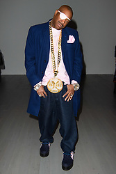 Slick Rick on the front row during the Christopher Raeburn London Fashion Week Men's AW18 show, held at the BFC Show space, London. Picture date: Sunday January 7th, 2018. Photo credit should read: Matt Crossick/ EMPICS Entertainment.