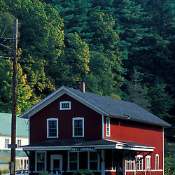 West Cornwall, CT. The old railroad depot in West Cornwall in the Litchfield Hills of western Connecticut.