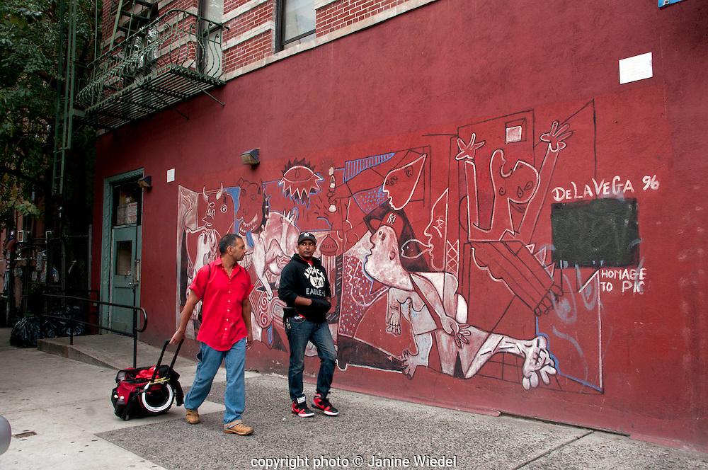 Street mural by delavegaprophet in Harlem New York City street