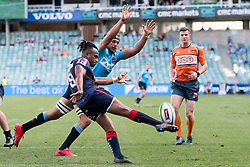March 18, 2018 - Sydney, NSW, U.S. - SYDNEY, NSW - MARCH 18: Rebels player Will Genia (9) gets the kick away at round 5 of the Super Rugby between Waratahs and Rebels at Allianz Stadium in Sydney on March 18, 2018. (Photo by Speed Media/Icon Sportswire) (Credit Image: © Speed Media/Icon SMI via ZUMA Press)