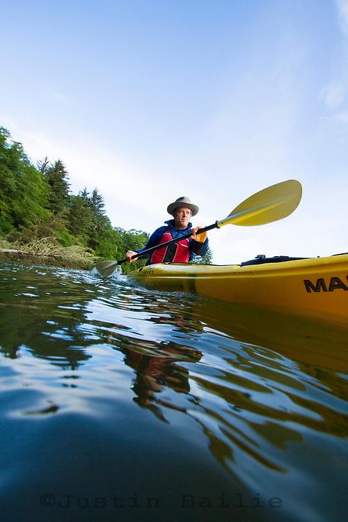 Kayaking Nestucca Bay. Pacific City, Oregon.