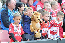 14-07-18 Johannesburg. Emirates Airlines Park. Emirates Lions vs Vodacom Blue Bulls. Young Lions supporters<br /> 1st half. <br /> Picture: Karen Sandison/African News Agency (ANA)