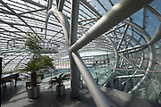 "Hangar-7; the spectacular home of the Flying Bulls (""Red Bull"" owner Didi Mateschitz' collection of classic airplanes) next to Salzburg W.A. Mozart airport."