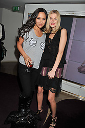 Left to right, MYLEENE KLASS and DONNA AIR at the launch of 'She Died of Beauty' as part of London Fashion Week Autumn/Winter 2012 held at The Club at The Ivy Club, London on 17th February 2012.