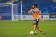 Mal Benning of Mansfield Town (3) on the ball during the The FA Cup match between Mansfield Town and Dagenham and Redbridge at the One Call Stadium, Mansfield, England on 29 November 2020.
