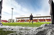 JÄMTKRAFT ARENA 2020-04-05<br /> Bilder på Jämtkraft Arena dagen för den planerade premiären i Allsvenskan.Allsvenskan är uppskjuten och istället spelades det match mellan OPE IF och IFK Östersunds damlag.<br /> <br /> Foto: Per Danielsson/Projekt.P
