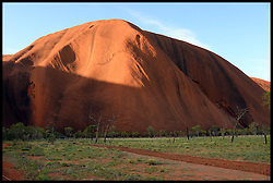 General Views of Ayers Rock/Uluru, Australia. Monday, 21st April 2014. Uluru, also known as Ayers Rock and officially gazetted as Uluru / Ayers Rock, is a large sandstone rock formation in the southern part of the Northern Territory in central Australia. Picture by Andrew Parsons / i-Images