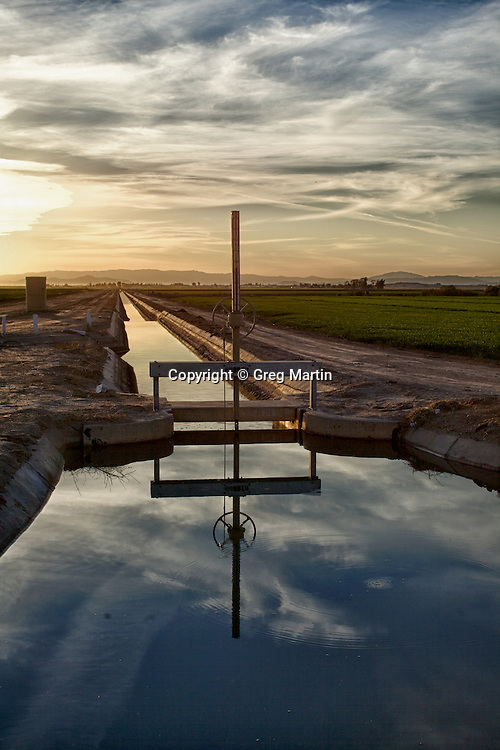An irrigation gate in Holtville, California, Imperial Valley
