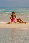 Gold Rock Beach, Lucaya National Park, Grand Bahamas; enjoying the warm water