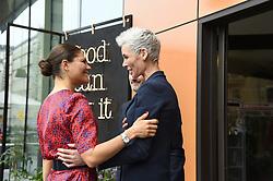 June 12, 2017 - Stockholm, Sweden - Crown princess Victoria, Gunhild Stordalen,..Attendance at the EAT Stockholm Food Forum, Clarion Hotel Sign, Stockholm, 2017-06-12..(c) Karin Törnblom / IBL....unfixed image (Credit Image: © Karin TöRnblom/IBL via ZUMA Press)