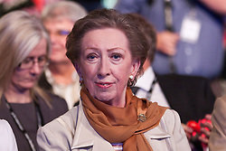 © Licensed to London News Pictures. 02/10/2012. Manchester, UK . Margaret Beckett in the audience . Ed Miliband delivers his speech to the Labour Party Conference at Manchester Central . Photo credit : Joel Goodman/LNP