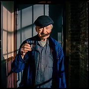 DECEMBER 13th, 2017. Brooklyn, NY. Jonas Mekas (Clinton Hill, Brooklyn) Year-end update on the people from the 2015 Oldest Old series. (photo Edu Bayer)