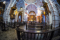 LIMA, PERU - CIRCA APRIL 2014: Interior view of the Monastery of San Francisco in the Lima Historic Centre in Peru