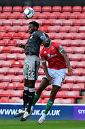 Dominic Iorfa of Sheffield Wednesday heads the ball during the EFL Cup match between Walsall and Sheffield Wednesday at the Banks's Stadium, Walsall, England on 5 September 2020.