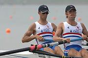 2005, World Rowing Championships, Nagaragawa International Regatta Course, Gifu, JAPAN: Monday  29.08.2005. GBR LM2- Bow Paul Mattick and Daniel Harte  © Peter Spurrier/Intersport Images - email images@intersport-images.com