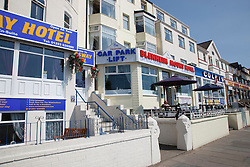Row of hotels on South Promenade, Blackpool.
