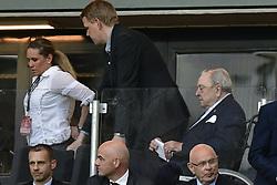 May 24, 2017 - Stockholm, Sverige - 170524 UEFAS före detta ordförande Lennart Johansson under finalen i Europa League mellan Ajax och Manchester United den 24 maj 2017 i Stockholm  (Credit Image: © Ludvig Thunman/Bildbyran via ZUMA Wire)