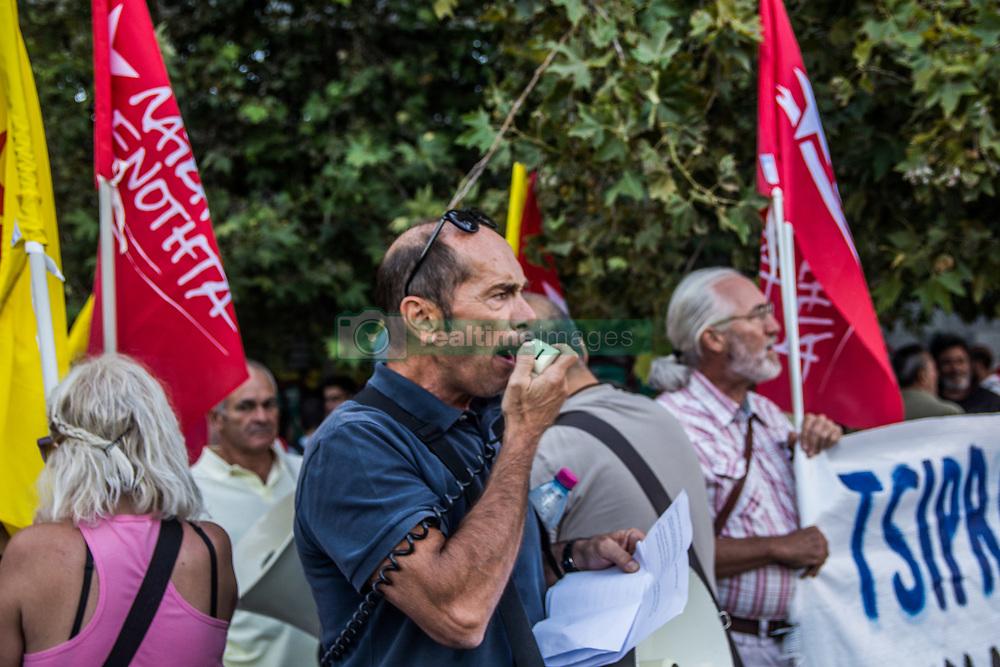 September 7, 2017 - Athens, Greece - Riot police uses tear gas on people protesting against Macron's visit in Athens, Greece, 07 September 2017  (Credit Image: © Dimitris Lampropoulos/NurPhoto via ZUMA Press)