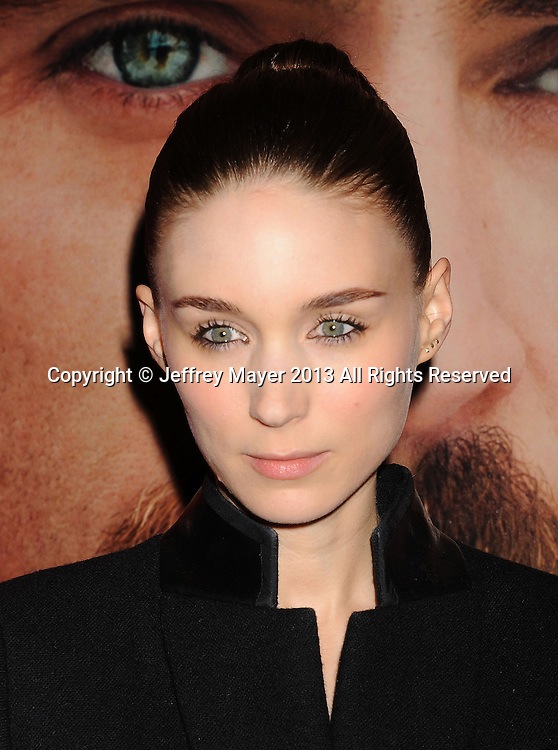 LOS ANGELES, CA- DECEMBER 12: Actress Rooney Mara arrives at the 'Her' Los Angeles Premiere - Arrivals at Directors Guild Of America on December 12, 2013 in Los Angeles, California.