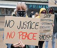Black Lives Matter Peaceful Protest,Godiva Square Coventry Photo by Brian Jordan