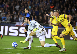 September 18, 2018 - Brugge, BELGIQUE - BRUGGE, BELGIUM - SEPTEMBER 18 : Karlo Letica goalkeeper of Club Brugge   pictured during a  the UEFA Champions League Group A stage match between Club Brugge and Borussia Dortmund at the Jan Breydel stadium on September 18, 2018 in Brugge, Belgium , 18/09/2018 (Credit Image: © Panoramic via ZUMA Press)